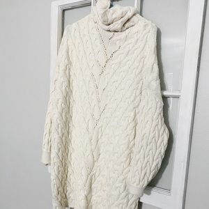Off White Free People Sweater Dress